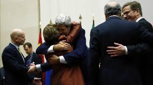 diplomats hug