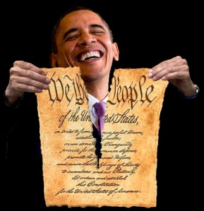 obama tearing up constitution