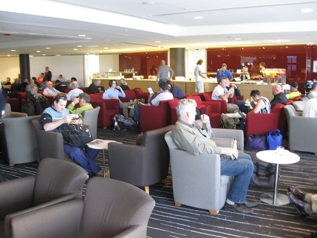Ugly people in a QANTAS Club lounge. They will be all gone by April says the airline.