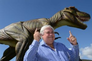 Clive Palmer with Jeff in happier times.