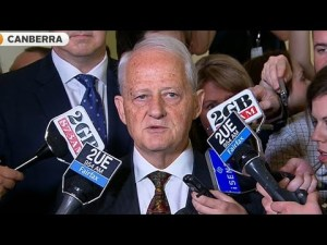 Former chief government whip Philp Ruddock's uneartlhy stare was unsettling visotrs to Parliament House.