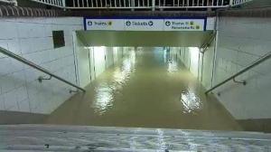 flooded station