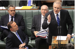 Joe Hockey (far left) would have been an ideal choice to play Santa Clause before leaving parliament last month