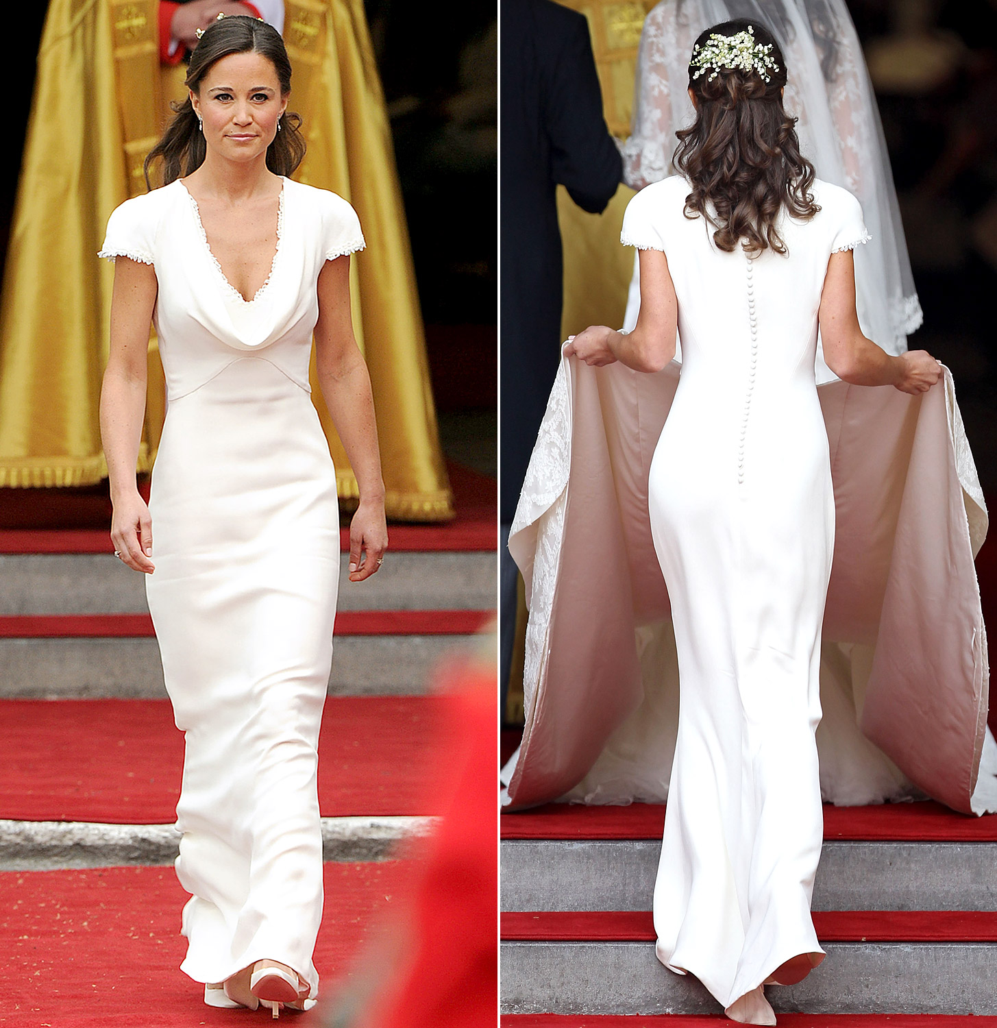 Pippa middleton s bum visits royal baby for Wedding dress like pippa middleton