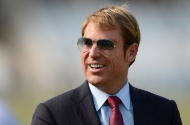 NOTTINGHAM, ENGLAND - MAY 28:  Former Australian cricketer Shane Warne smiles during day four of the second Test match between England and the West Indies at Trent Bridge on May 28, 2012 in Nottingham, England.  (Photo by Gareth Copley/Getty Images)